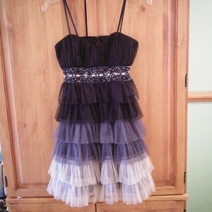 Ombre Sequined Party Dress